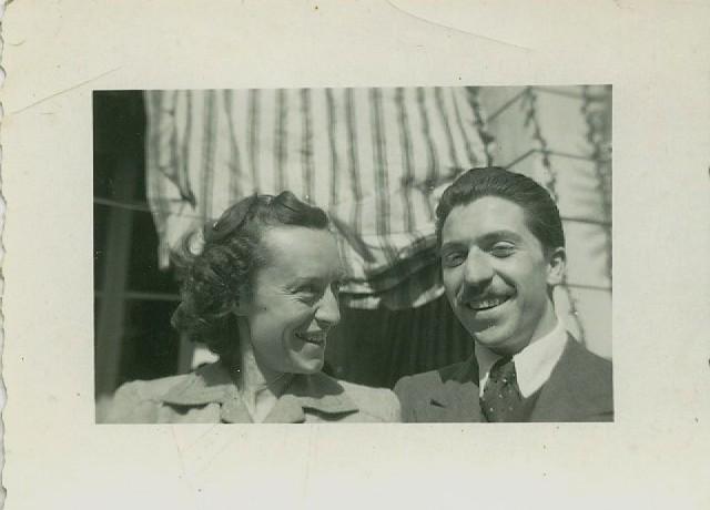 1945 - Vittorio e Piera Tavernari giovani sposi