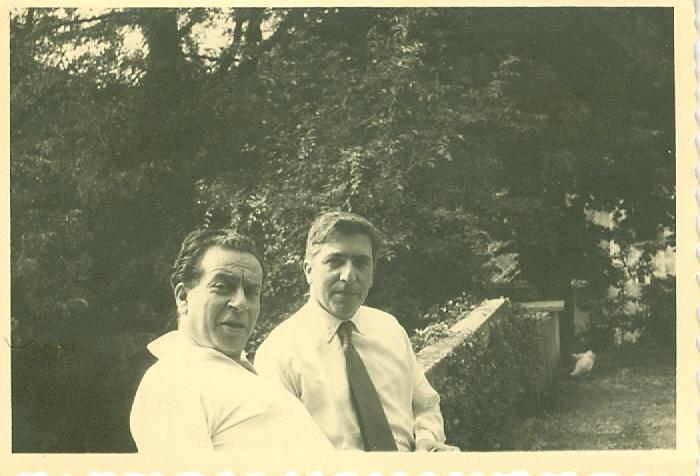 1950 ca. - Renato Guttuso e Tavernari a Velate