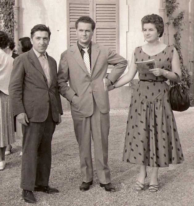1953 - Tavernari con Luciano Minguzzi e signora
