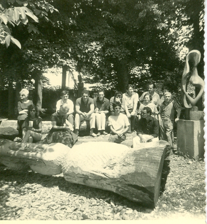 1962 - Tavernari e altri scultori a Kostanjevica