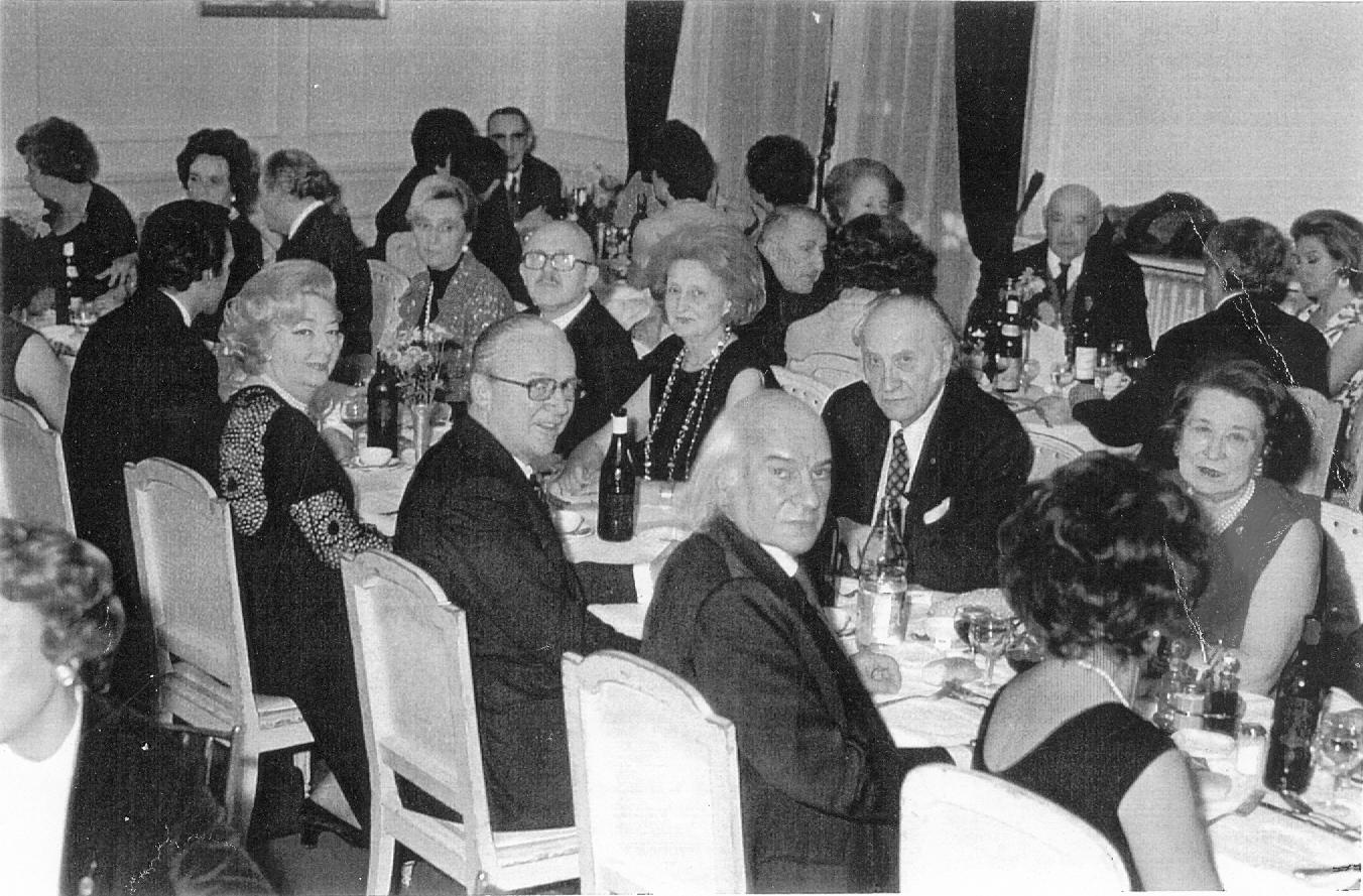 1973 - Mimy e Guido Piovene alla cena per l'inaugurazione della mostra di Tavernari al Museo Rodin Parigi