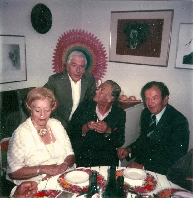 1979 - Tavernari tra Mimise e Renato Guttuso