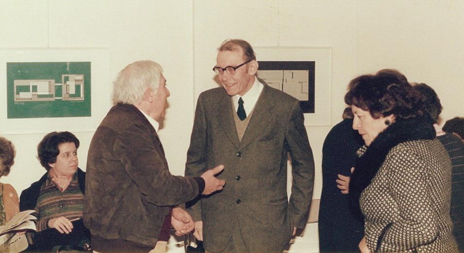 1980 - Vittorio e Piera Tavernari con Mario Radice